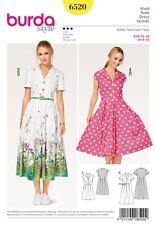 BURDA SEWING PATTERN MISSES' SHIRT BLOUSE DRESSES SIZE 8 - 20 6520