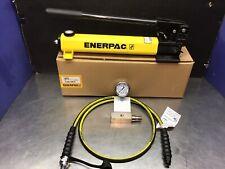 Enerpac P 392 2 Speed Hydraulic Hand Pump Hc9206 C604 Ga3 0 10000 Psi Gauge