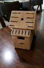 Oxo 16 Slot Wood Knife Storage Block - Maple Color