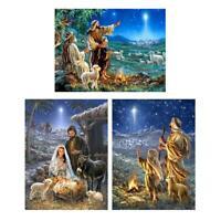 H3E# 5D DIY Full Drill Diamond Painting Shepherd Cross Stitch Embroidery Mosaic