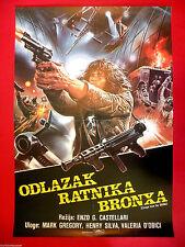 ESCAPE FROM THE BRONX 1983  MARK GREGORY  ENZO CASTELLARI  SCI-FI   MOVIE POSTER