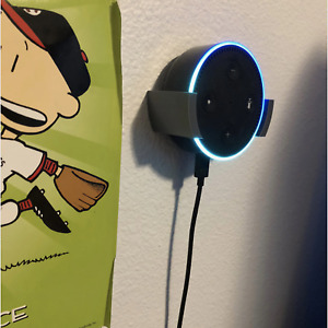 Amazon Echo Dot 3rd Gen Wall Mount Bracket with screw holes *multiple colors*