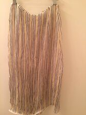 NWOT PRADA SILK yellow chiffon stripe skirt spring beach Small made in ITALY