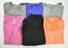 Wholesale Bulk Lot of 6 Womens Size Large 12-14 Danskin Now Athletic Wear Shirts