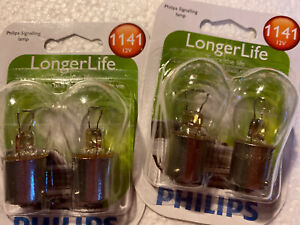 Lot Of 2 Packs NEW Philips BC9600 1141 Automotive 2-Pack 1141LLB2 Bulb