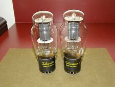Pair, Silvertone Type 6L6G Radio Audio Output Amplifier Tubes, Good