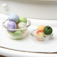 1:12 Dollhouse Miniature Accessories Glass dessert basin dish lace bowl J S Fy