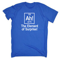Funny Novelty T-Shirt Mens tee TShirt - White The Element Of Surprise