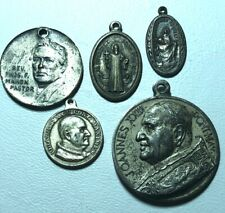 5 different Catholic Religious Medals Medallions 2 Made in Italy