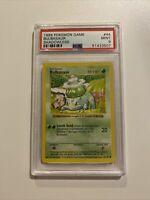 RARE 1999 Shadowless Bulbasaur Pokemon Base Set Card WOTC #44 Graded PSA 9 MINT