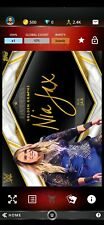 Topps WWE SLAM Digital 2020 Nia Jax Five Star Golden Graphs Signature