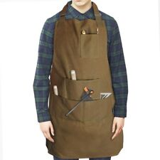 Deluxe Waterproof Waxed Canvas Apron DIY BBQ Carpenter Unisex Adjustable Tools