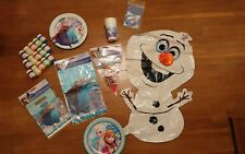 Frozen Elsa Anna Birthday Party Pack Bundle cups tablecloth bags balloon plates