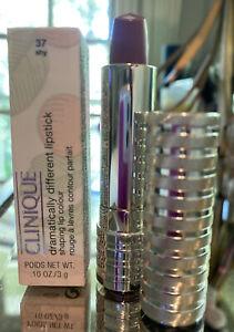 Clinique Dramatically Different Lipstick Shy 37 Shaping Lip Colour Brand New Box