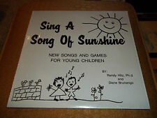 Sing A Song Of Sunshine New Songs And Games For Young Children R&D Records 1980
