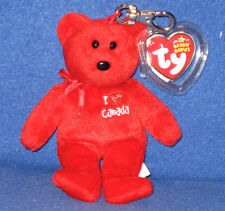 TY I LOVE CANADA KEY CLIP BEANIE BABY - MINT with MINT TAGS