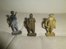 3 Petits soldats plomb genre quiralu 4 cm HUN  / mousquetaire / USA 1880