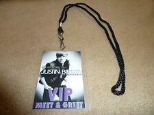 *JUSTIN BIEBER VIP PASS AND LANYARD! BACKSTAGE ALL ACCESS MEET & GREET PACKAGE!*