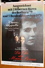 manifesto orig. tedesco IL MATRIMONIO DI MARIA BRAUN Fassbinder Schygulla 1979