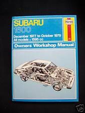 SUBARU 1600-DEC1977 TO OCT1979-ALL MODELS-W/SHOP MANUAL