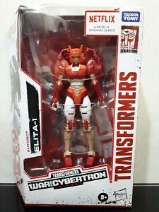 Transformers Netflix War For Cybertron Trilogy Deluxe Class Elita-1 Autobot Rare