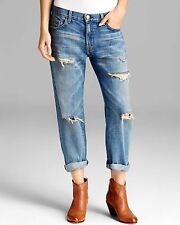 Current/elliott Woman Distressed Boyfriend Jeans Light Denim Size 30 Current Elliott