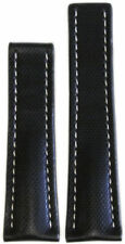 22mm RIOS1931 for Panatime Black Kevlar Style Synthetic Watch Band WS For Breitl