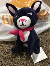 Gymboree Nwt Boston Terrier Dog Blue With Pink Scarf Purse