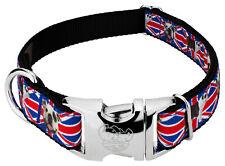 Country Brook Design® Premium English Bulldog Union Jack Ribbon Dog Collar