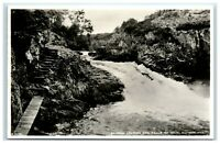 Vintage Picture Postcard Salmon leaping the Falls of Shin Sutherland Scotland