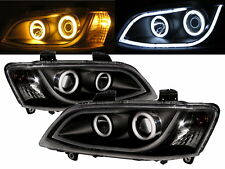 Commodore VE 06-13 HSV Cotton Angel-Eye Projector Headlight LED Black Holden LHD