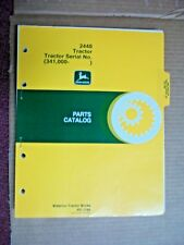 Original John Deere 2440 Tractor Parts Catalog Manual 1980 Pc-1760 341,000-