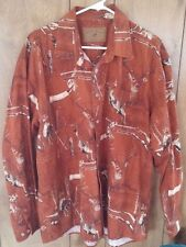 North River Men's Outfitters Long Sleeve Button Hunting Buck Deer Woods Shirt XL
