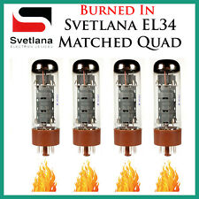 New 4x Svetlana EL34 | Matched Quad / Quartet / Four | Power Tubes | *Burned In*