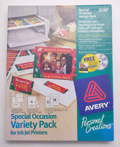Avery Special Occasion Variety Pack - Inkjet - 36 Blank Greeting Cards & Labels