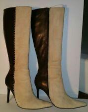 a3126e059e2 Victoria s Secret Suede Tan and Brown leather boots size 8