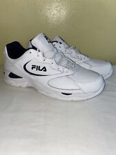 FILA Tri Runner Men's Athletic Shoes Running Sport Sneakers White/Navy Size 11