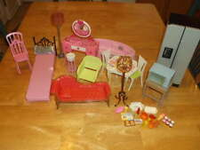 LOT MATTEL BARBIE FURNITURE BEDROOM KITCHEN LIVING ROOM