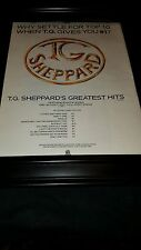 T.G. Sheppard Greatest Hits Rare Original Promo Poster Ad Framed!