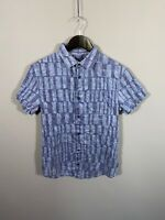 ARMANI SHORT SLEEVED Shirt - Medium - Blue - Great Condition - Men's