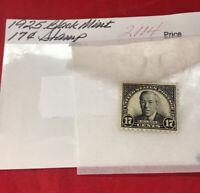 17 Cents President Woodrow Wilson 1926 unused Black mint stamp 17C US