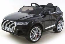 Voiture quad bébé enfant électrique 4x4 Audi Q7 luxe roues en gomme EVA noir