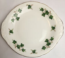 More details for colclough ivy leaf sandwich biscuit plate bone china made in england