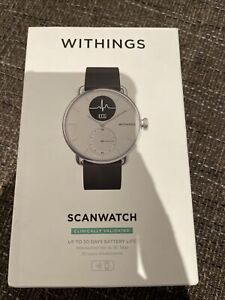 Withings ScanWatch -  Hybrid Smartwatch with ECG, Heart Rate & Oximeter - White