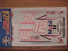 2003 RYAN NEWMAN #12 MOBIL 1 SPEEDPASS 1/24-1/25 SCALE SLIXX WATER SLIDE DECAL
