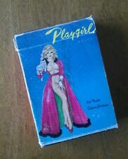 """Vintage """"Playgirl"""" Nude Color Picture Playing Cards 60s Pinup Erotica Stag Poker"""