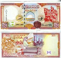 Syria 200 Pounds 1997  P - 109  Sultan Saladin UNC.