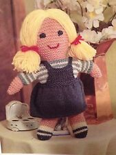Lucy Paese cugino Lavorato a Maglia Bambola-Knitting Pattern