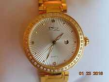 Daniel Steiger Lady's Versa Model 9071G-L 18K Fused Gold Stainless Steel Watch