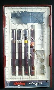 vintage - 1970s ROTRING TECHNICAL DRAWING PENS COLLEGE SET - £4.99
